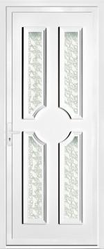 Porte pvc porte pvc vitr e blanche design serrurerie bordelaise serrurier professionnel - Porte pvc blanche ...