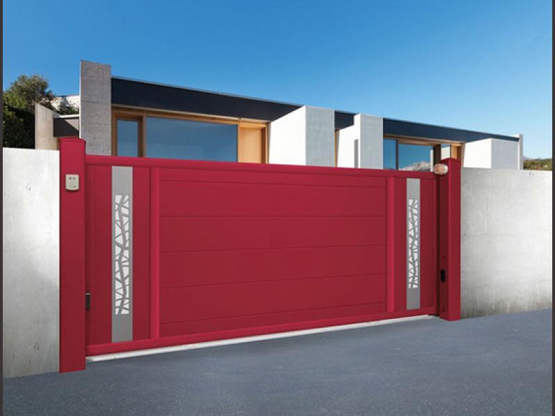 Portail battant portail coulissant portillon cloture portail coulissant sib serrurerie for Portail coulissant aluminium 4m